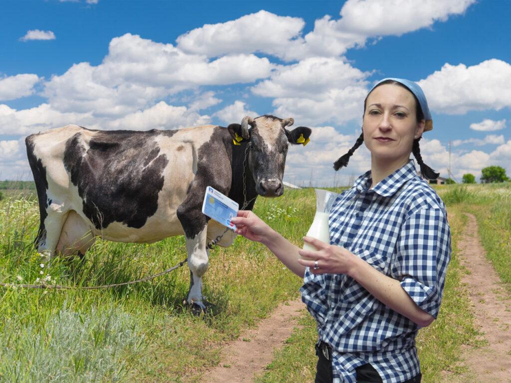 Paydirekt ist so einfach, dass man sogar direkt beim Bauer um die Ecke die Milch gleich mit Karte bezahlen kann (Foto: Zuckrigl)